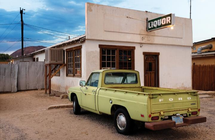 Green Truck and Liquor - Large